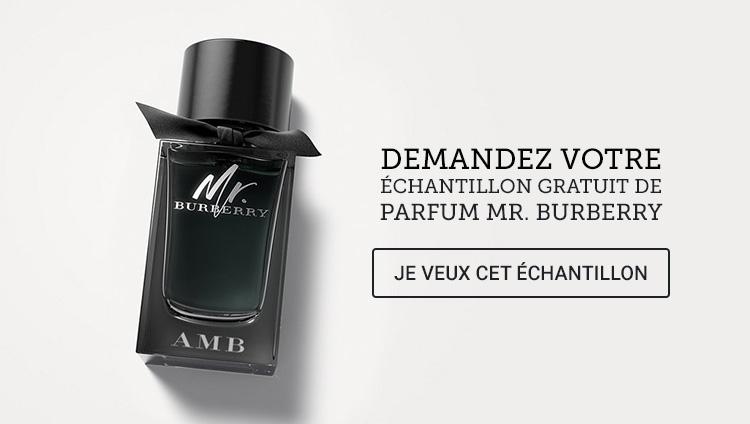 recevez des chantillons gratuits de parfum mr burberry. Black Bedroom Furniture Sets. Home Design Ideas