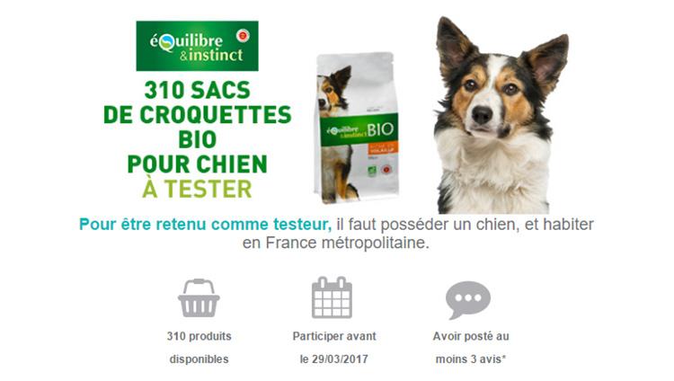 Echantillons gratuits sacs de croquettes bio chien 01 - Echantillon gratuit de couche pour adulte ...